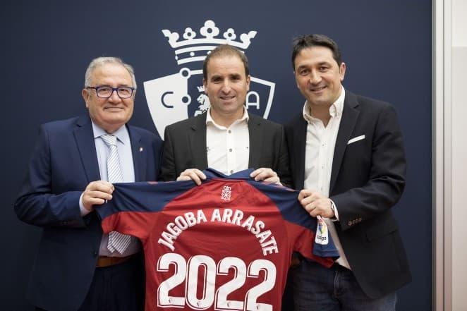 Renouvellement du contrat de Jagoba Arrasate avec le CA Osasuna jusqu'en 2022