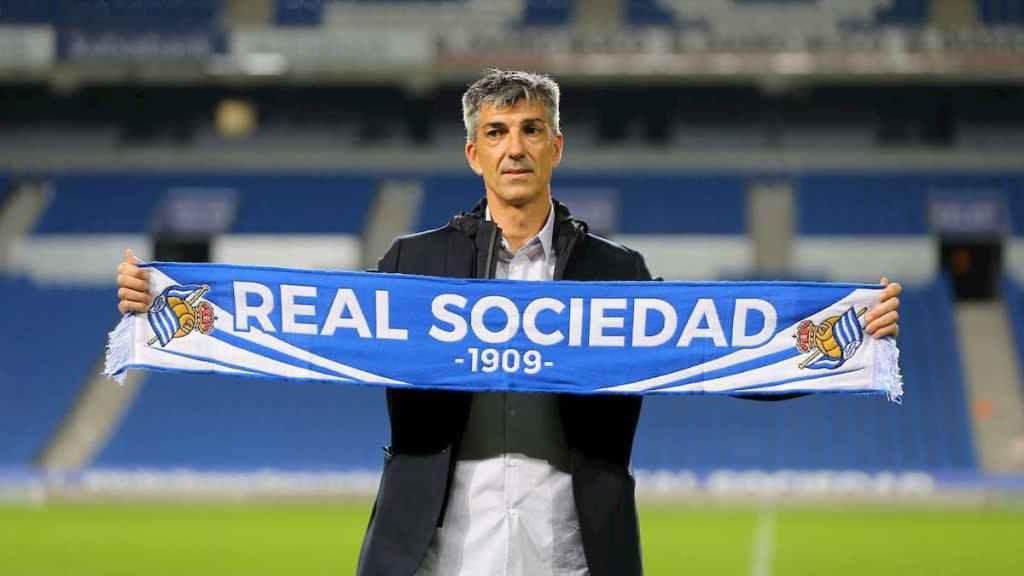 Imanol Alguacil, ancien joueur, puis devenu entraîneur de la Real Sociedad
